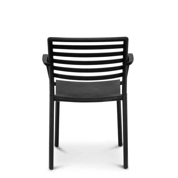lama - outdoor cafe chair black