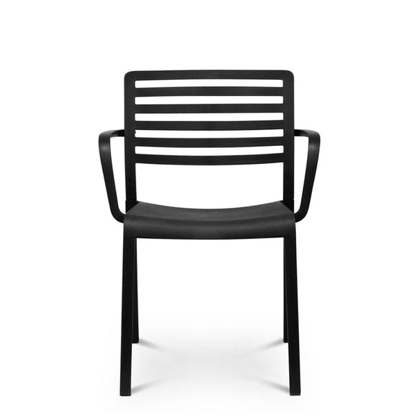 black outdoor cafe chair - lama