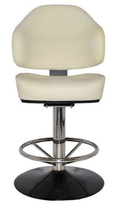 Luxora Disc Polished S/S Stool