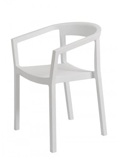 white outdoor cafe chair - peach