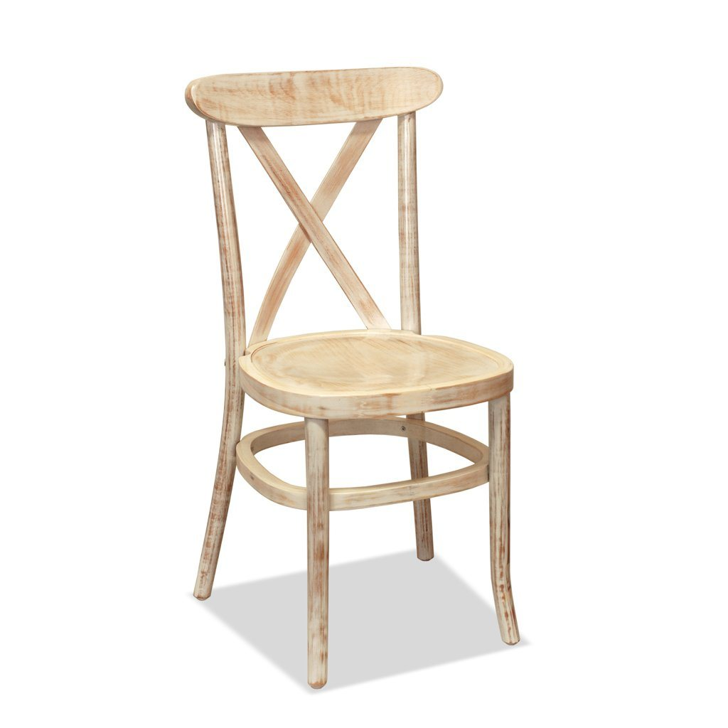 Cross Back chair - Athena - Lime Wash
