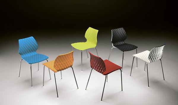 Uni Chair by Metalmobil - Azure - Outdoor Restaurant and Cafe Chair