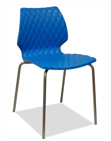 blue stacking chair - uni