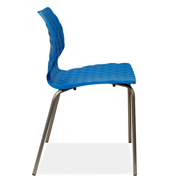 stackable chair - uni - blue