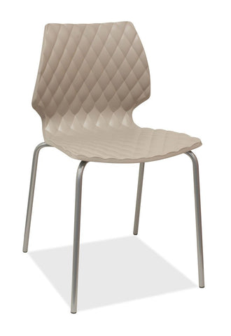 grey stacking chair - uni
