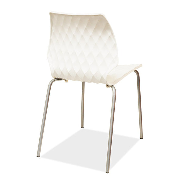 Uni Chair by Metalmobil - White - Outdoor Restaurant and Cafe Chair