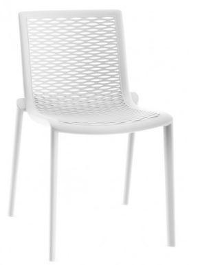 white outdoor cafe chair - Netkat