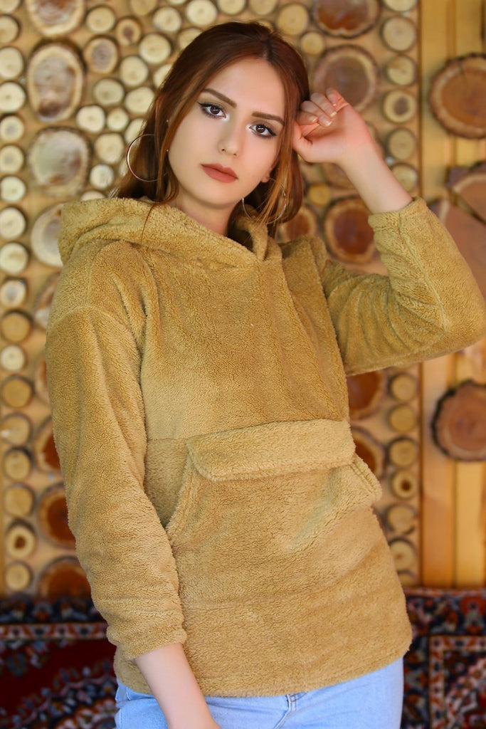 Camel Plush Sweatshirt