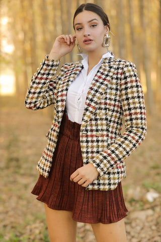 Button Patterned Jacket