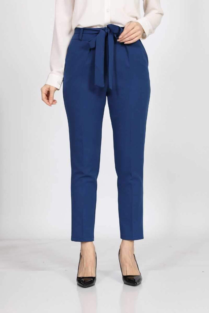 Belted Fabric Pants