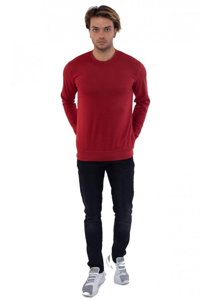 Collarless Basic Sweatshirt