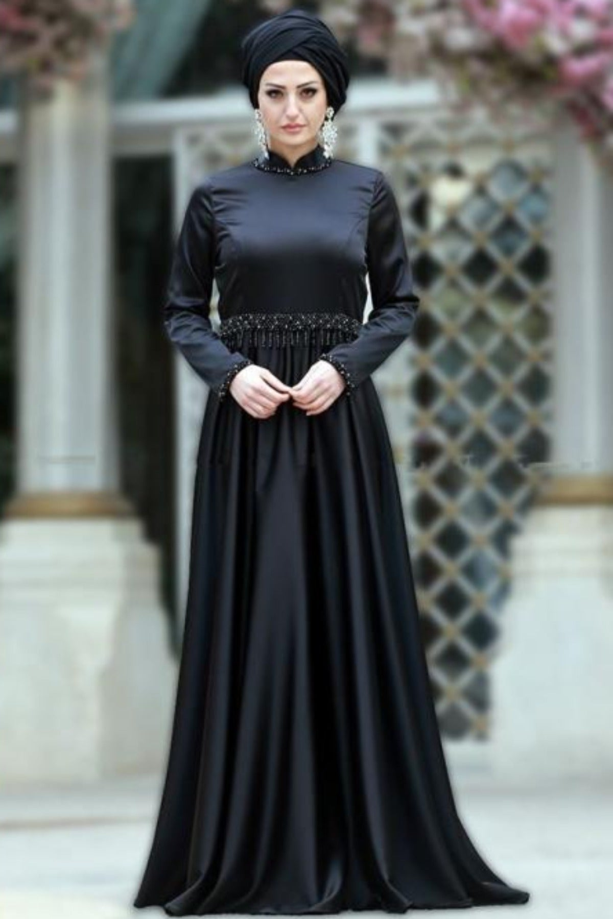 Gemmed Evening Dress