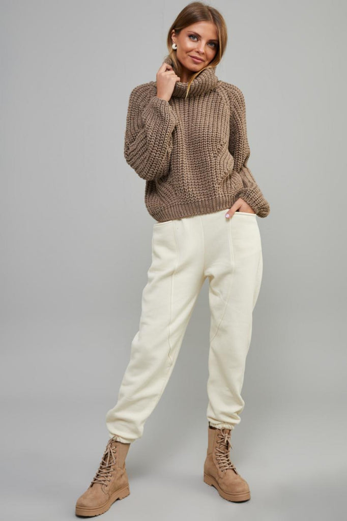 Cowl Tricot Sweater