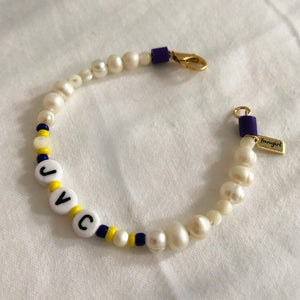 'YOUR TEAM' PEARL BRACELET WITH CLASP