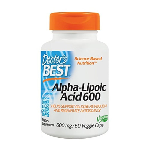 Doctor's Best, Alpha-Lipoic Acid, 600mg, 60 Veggie Caps - Buckwheat Healthcare Products Pte Ltd