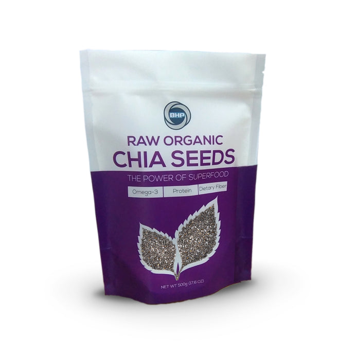 BHP Organic Chia Seeds, 500g - Buckwheat Healthcare Products Pte Ltd