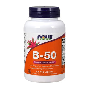 Now Foods, B-50, 100 Veg Capsules - Buckwheat Healthcare Products Pte Ltd