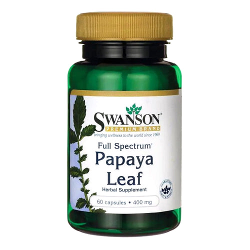 Swanson, Full Spectrum Papaya Leaf, 400mg, 60 Capsules - Buckwheat Healthcare Products Pte Ltd