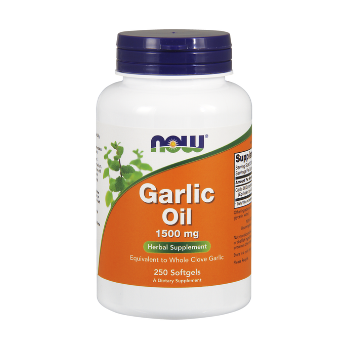 Now Foods, Garlic Oil, 1500mg, 250 Softgels - Buckwheat Healthcare Products Pte Ltd