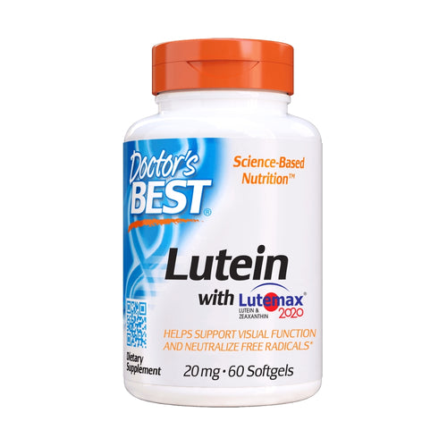Doctor's Best, Lutein with Lutemax 2020, 20mg, 60 Softgels - Buckwheat Healthcare Products Pte Ltd