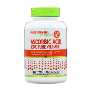NutriBiotic, Ascorbic Acid 100% Pure Vitamin C Powder, 227g - Buckwheat Healthcare Products Pte Ltd