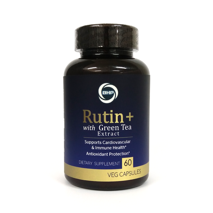 BHP Rutin+ with Green Tea Extract, 1000mg, 60 Veg Capsules - Buckwheat Healthcare Products Pte Ltd