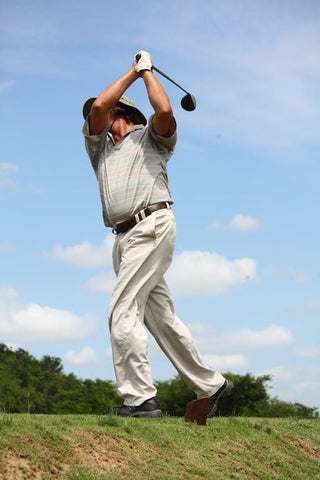 A person perfecting their swing