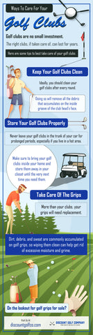 Ways to care for your golf clubs - Infograph
