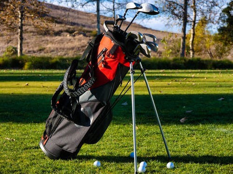 Golf accessories in kitbag