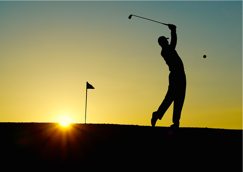 picture of a person playing golf