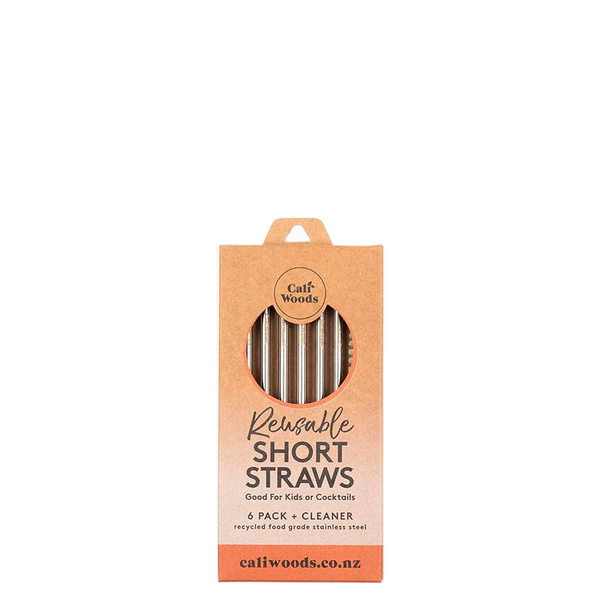 CALIWOODS COCKTAIL SHORT STRAWS 6 PACK
