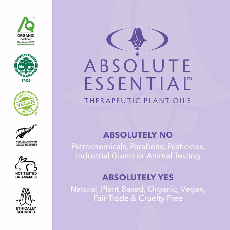 ABSOLUTE ESSENTIALS ORGANIC PATCHOULI 5ML