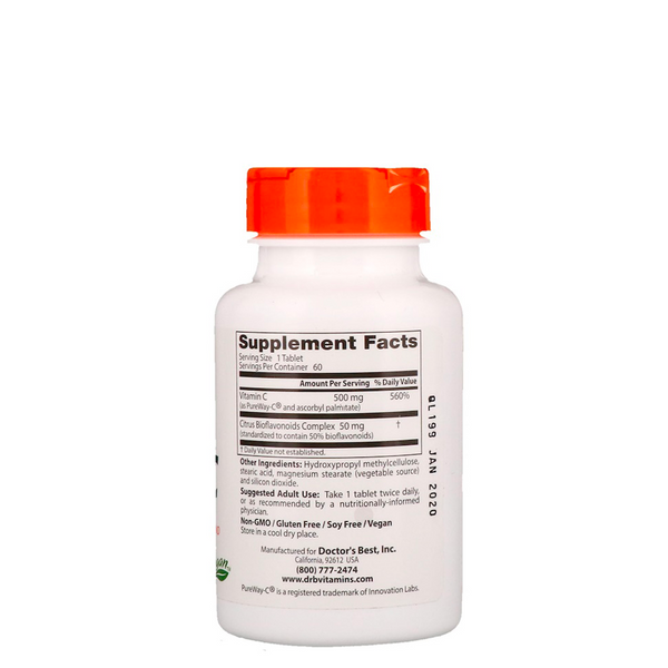 DOCTOR'S BEST SUSTAINED RELEASE VITAMIN C 60 TABS