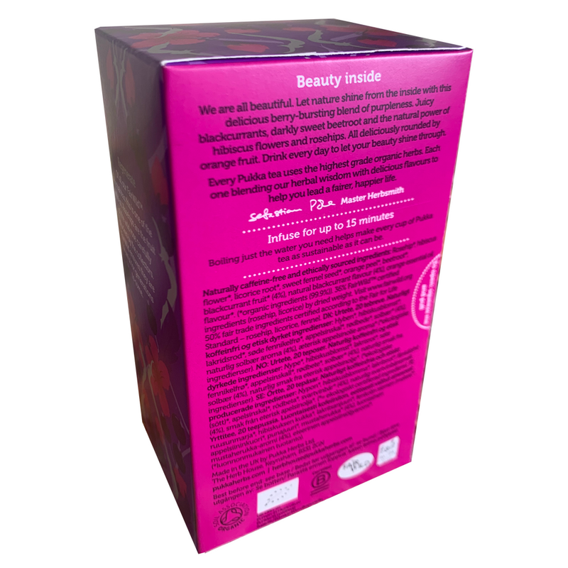PUKKA ORGANIC BLACKCURRANT BEAUTY TEA BOX