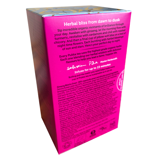 PUKKA ORGANIC DAY TO NIGHT TEA BOX