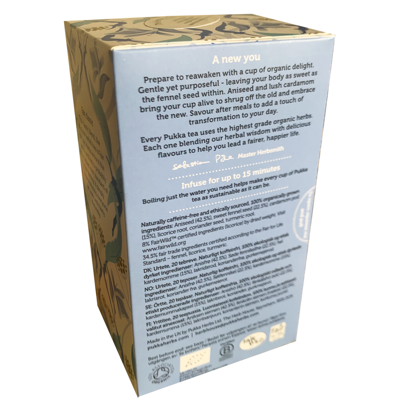PUKKA ORGANIC FEEL NEW TEA BOX