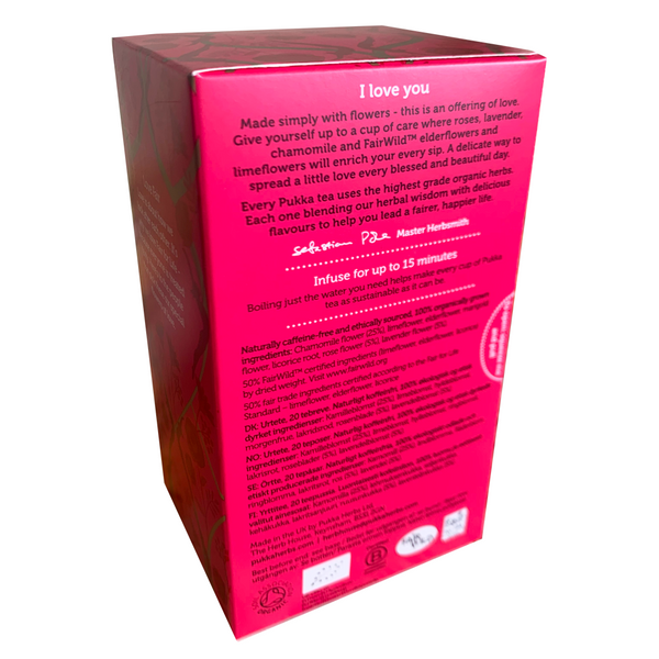 PUKKA ORGANIC LOVE TEA BOX