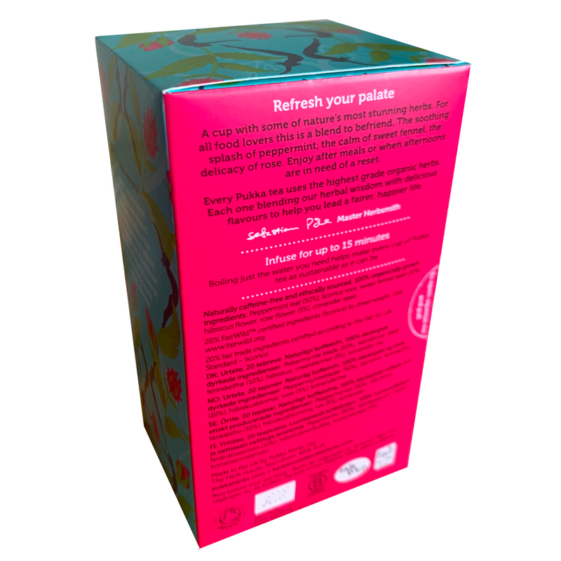 PUKKA ORGANIC MINT REFRESH TEA BOX