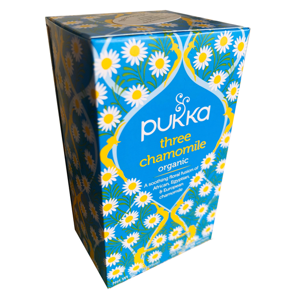 PUKKA ORGANIC THREE CHAMOMILE TEA BOX
