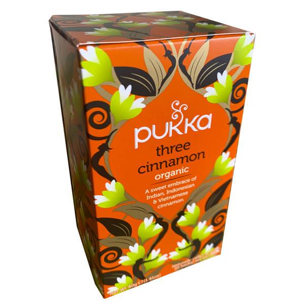 PUKKA ORGANIC THREE CINNAMON TEA BOX
