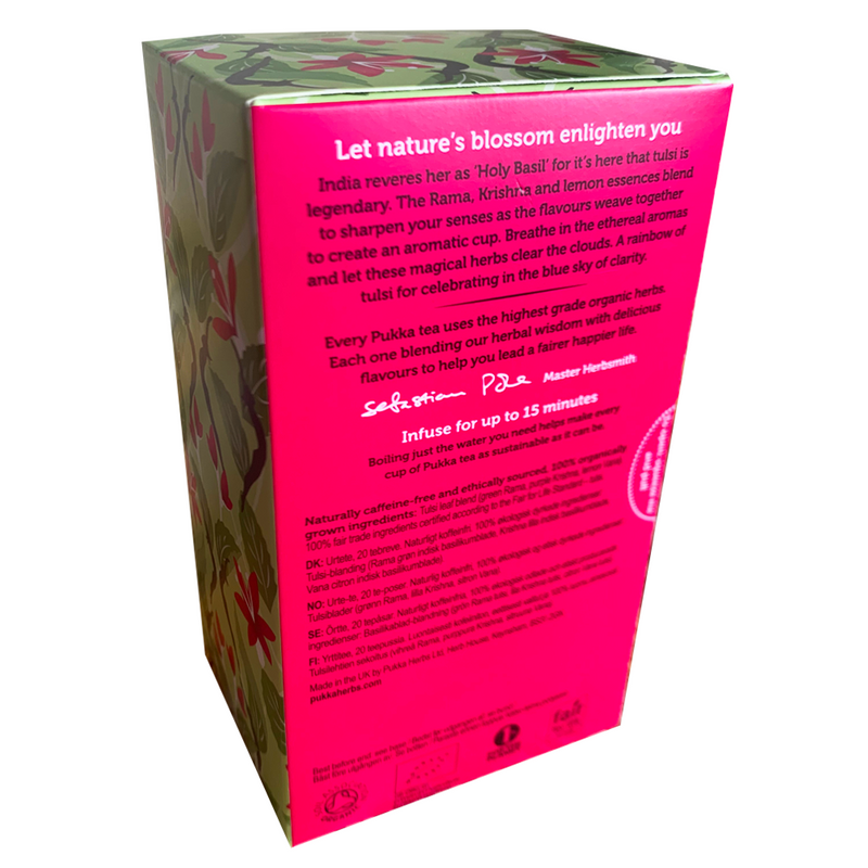 PUKKA ORGANIC TULSI CLARITY TEA BOX
