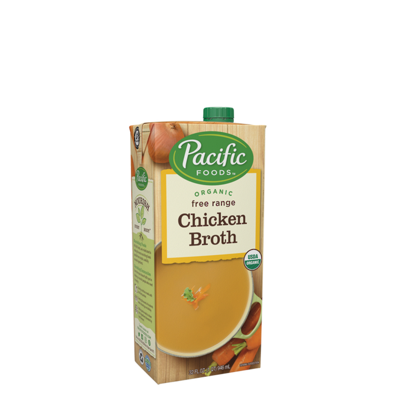 CHICKEN BROTH FREE RANGE ORGANIC 946ML