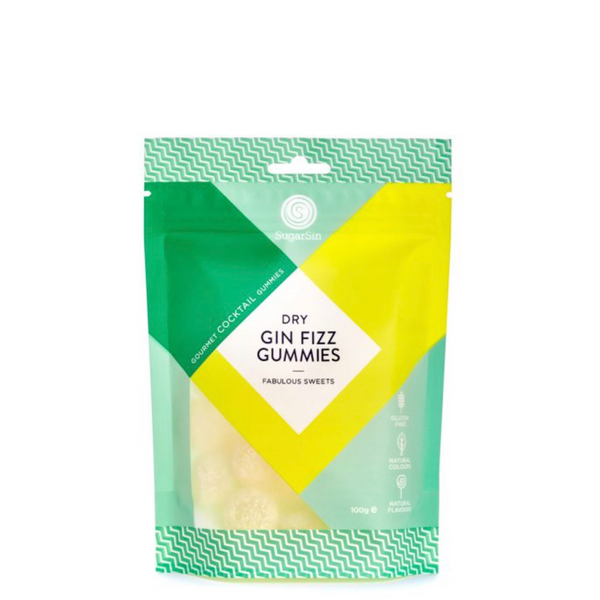 SUGARSIN COCKTAIL CANDY DRY GIN FIZZ GUMMIES POUCH 100G