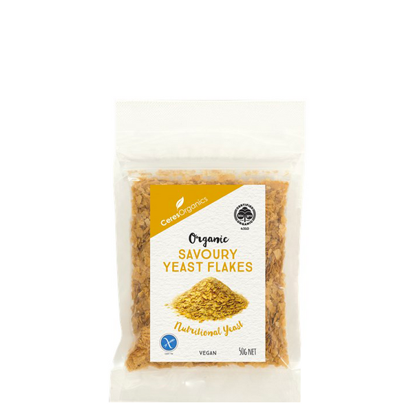 CERES ORGANICS ORGANIC SAVOURY NUTRITIONAL YEAST FLAKES 50G
