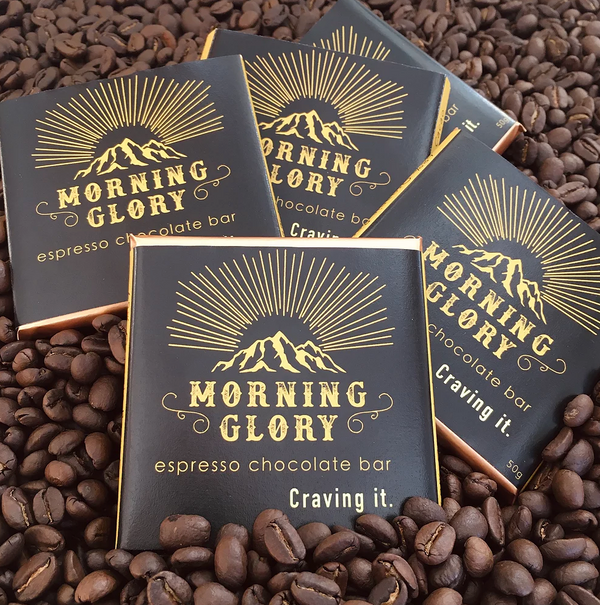 MORNING GLORY ORGANIC ESPRESSO CHOCOLATE BAR 50G