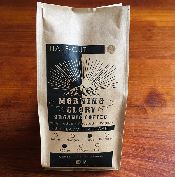 MORNING GLORY ORGANIC COFFEE HALF CUT BLEND