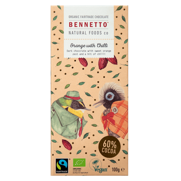 BENNETTOS ORANGE & CHILLI CHOCOLATE 100G