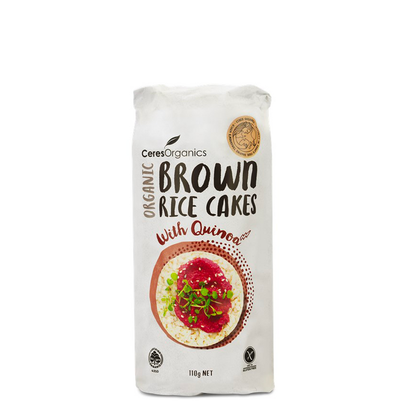 BROWN RICE CAKES QUINOA ORGANIC 110G