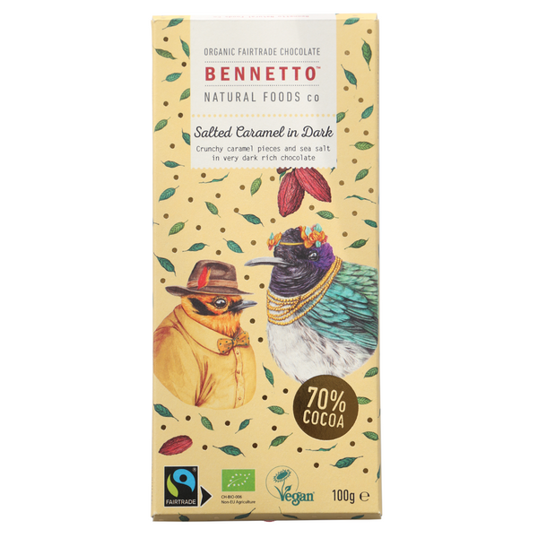 BENNETTOS SALTED CARAMEL IN DARK CHOCOLATE 100G