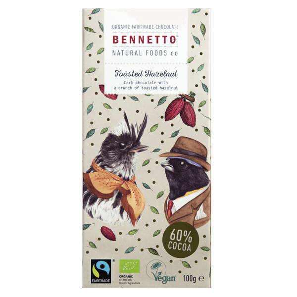 BENNETTOS TOASTED HAZELNUT CHOCOLATE 100G